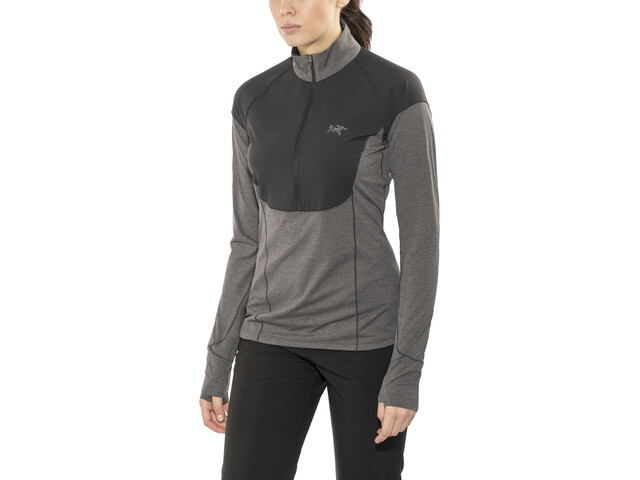 Arc'teryx Taema Zip Neck LS Shirt Women Black